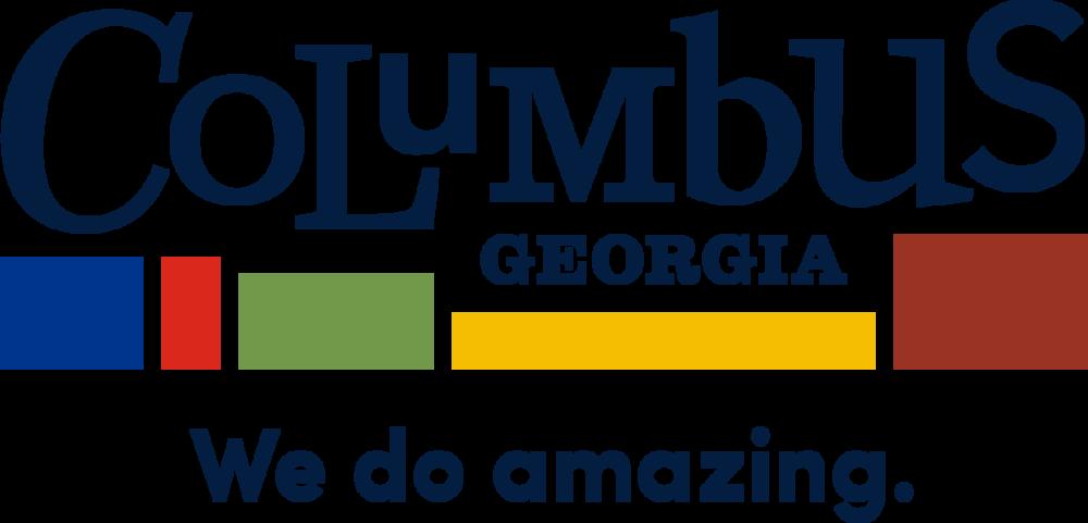 "Columbus, GA's new logo with tagline, ""We do amazing."""