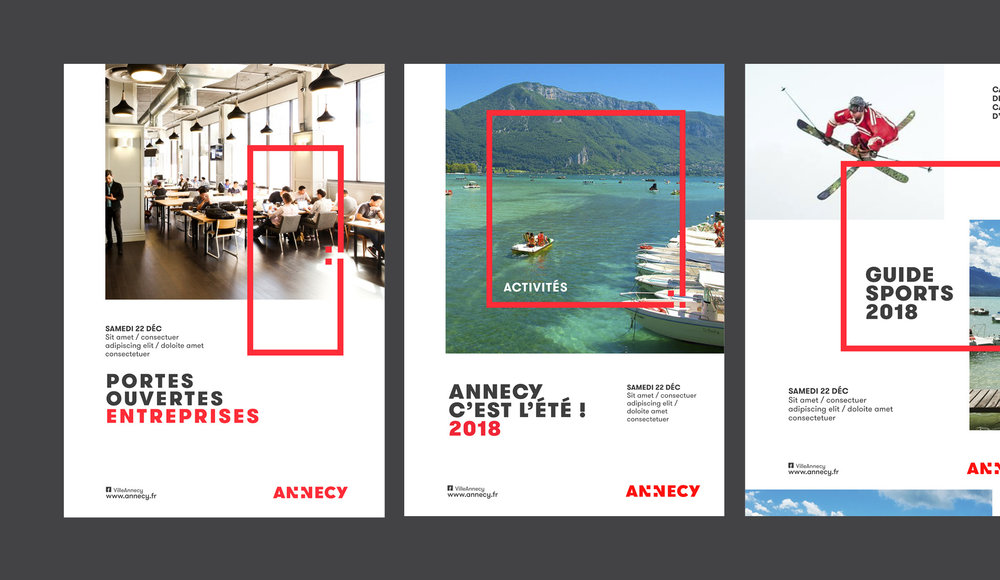 Advertisements for Annecy.
