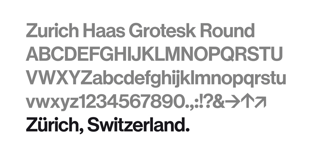 Zürich Haas Grotesk Round by Commercial Type