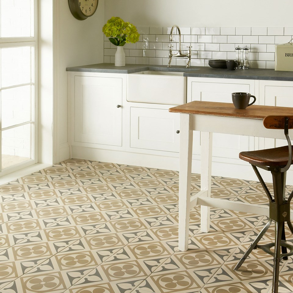 "Original Style, Kitchen Tiles, ""Odyssey Grande Quatrefoil"""
