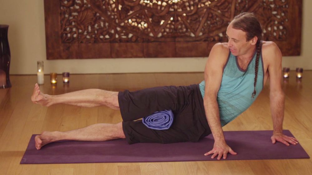GUIDED LOW BACK PAIN RELIEF EXERCISES  Detailed tutorial of his keys to get out of pain using focused yoga exercises to strengthen and support the lower back.