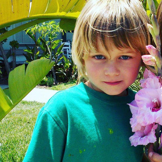 HAPPY BIRTHDAY ADRIAN! My boy turned 13 today!!!!! Woooooohoooo!!! I love you, man!! Flashback garden photo circa 2013