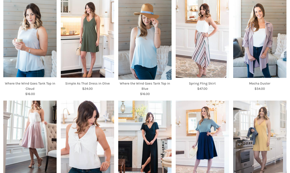 Commercial Fashion Online Boutique Photo Shoot by Feather Blue Studios