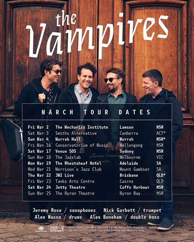 Tour dates! https://www.thevampires.com.au/news-1/2018/1/21/australian-tour-march-2018
