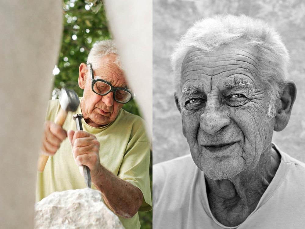 Milos Chlupac, Bildhauer