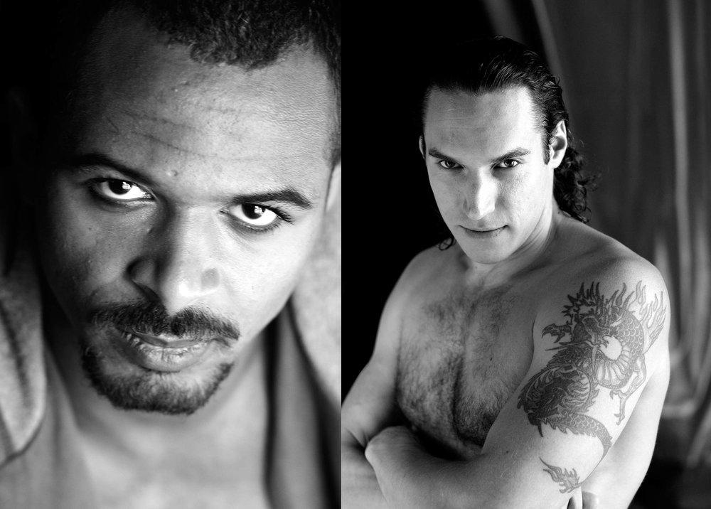 Rodrique Funke, Zirkusartist (li),Andrej Shiroff, Artist (re)