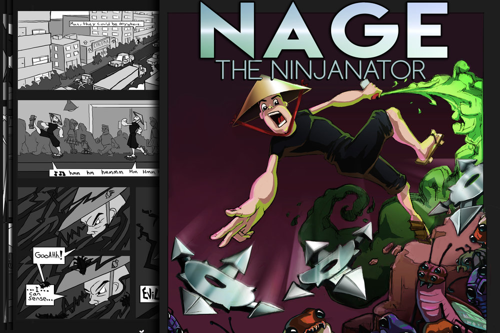 Nage The Ninjanator Comic-GraphicNovel LandImg