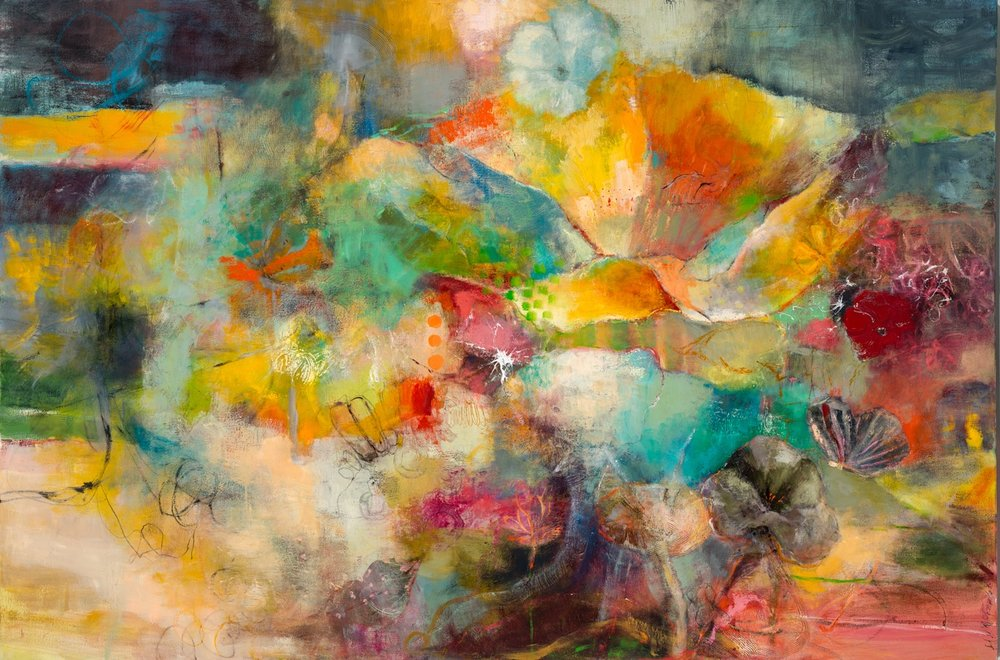 LOVE SONG - Oil on canvas / 48 x 72 (sold)