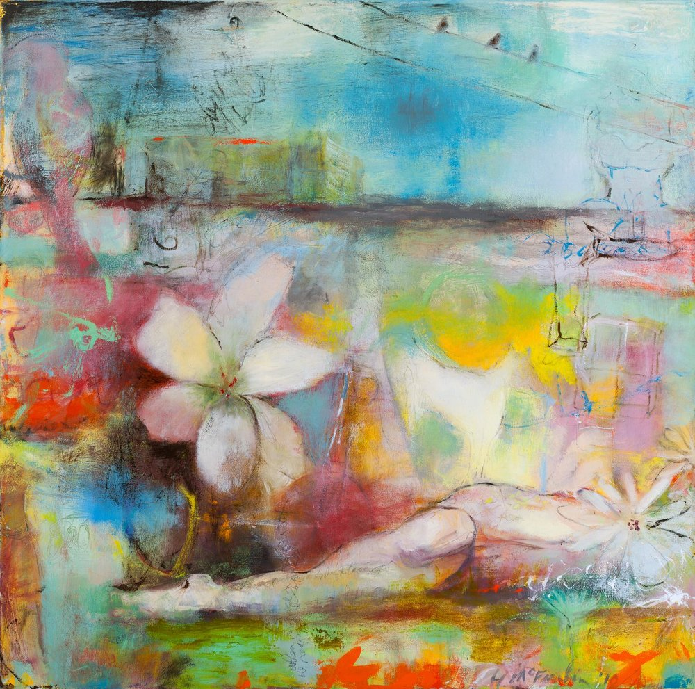 REPOSE - OIL ON CANVAS / 30 X 30 (SOLD)