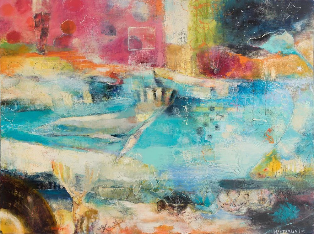 BLUE ROOM - oil on canvas | 24 x 36 (sold)