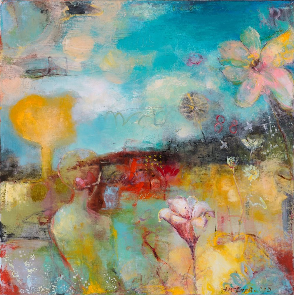 ESSENTIAL DISCOURSE - oil on canvas | 24 x 24 (sold)