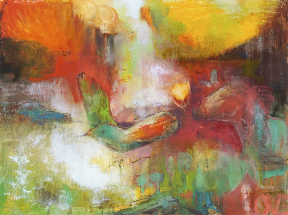 "ON A WING AND A PRAYER (SEEN ON NETFLIX ""SENSE8"") - oil on canvas 