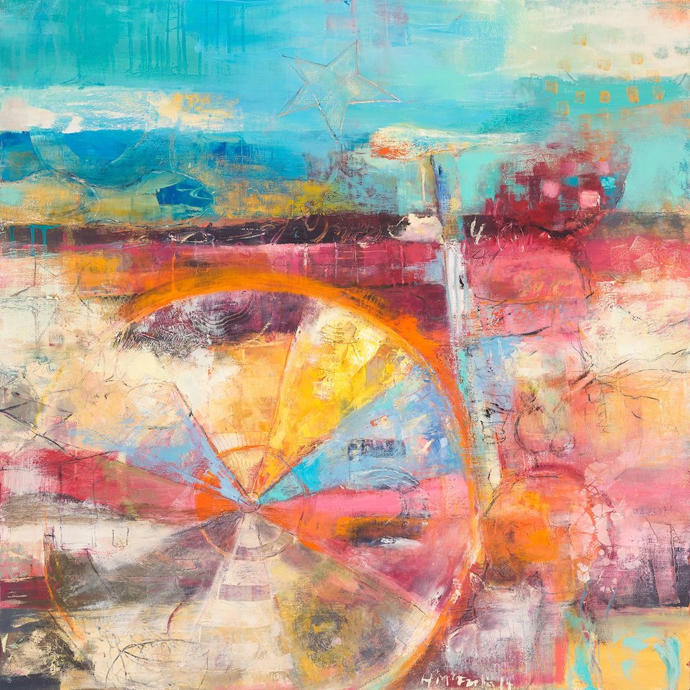 ZONE FIVE - oil on canvas | 36 x 36 (sold)