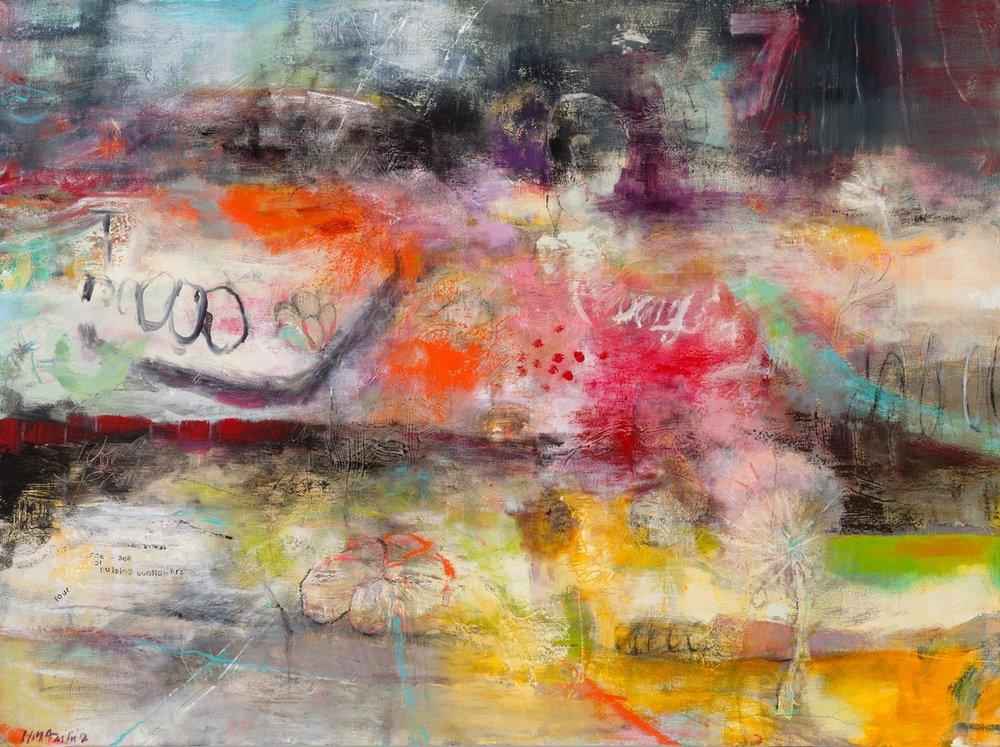 "HEART SONG (SEEN ON NETFLIX ""SENSE8"") - oil on canvas | 40 x 30"