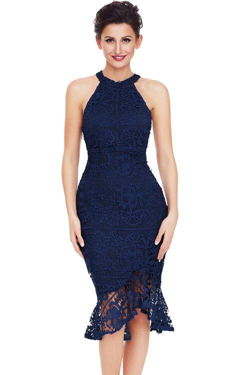 Jas Fashion-Daisy Chain Lace Fishtail Dress