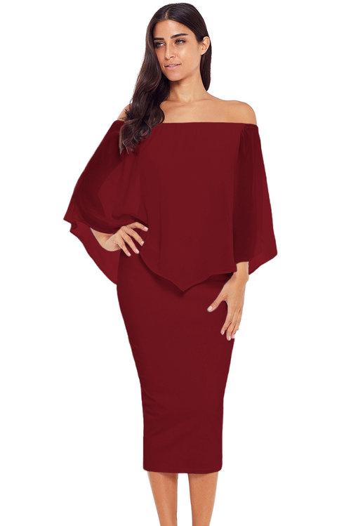 e48618ce383c Jas Fashion-Midnight Annecy Off Shoulder Midi Dress