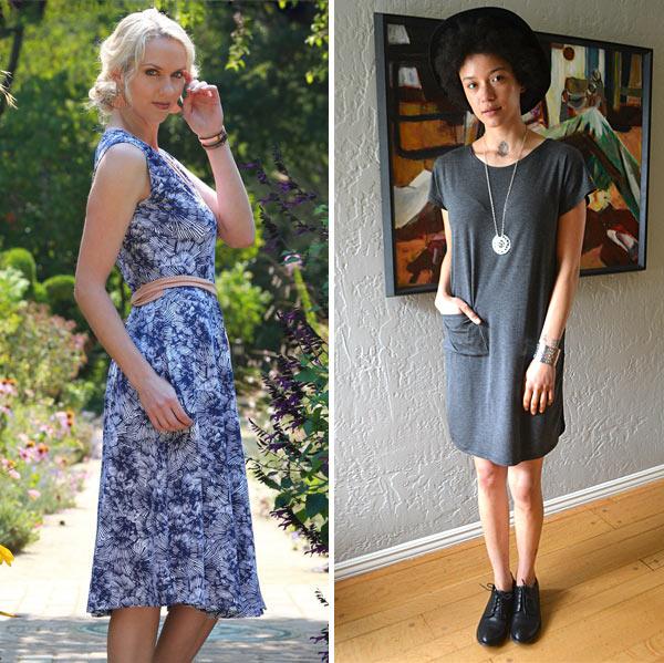 Wrap dress with pockets by Theia Grazi T-shirt dress by Harumi K