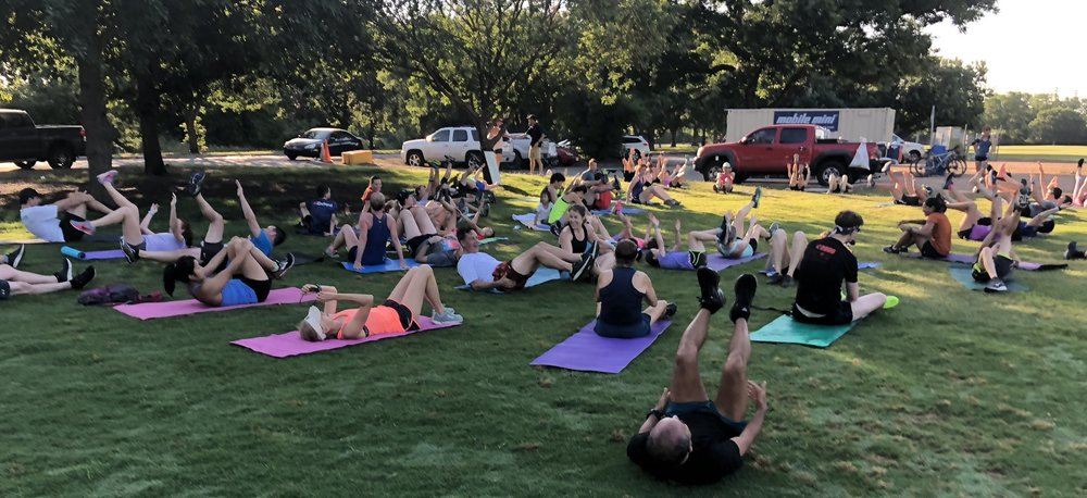 20/20 exercises at Zilker Park