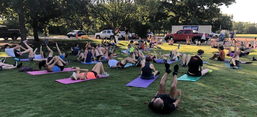 20/20 exercises at Zilker Park