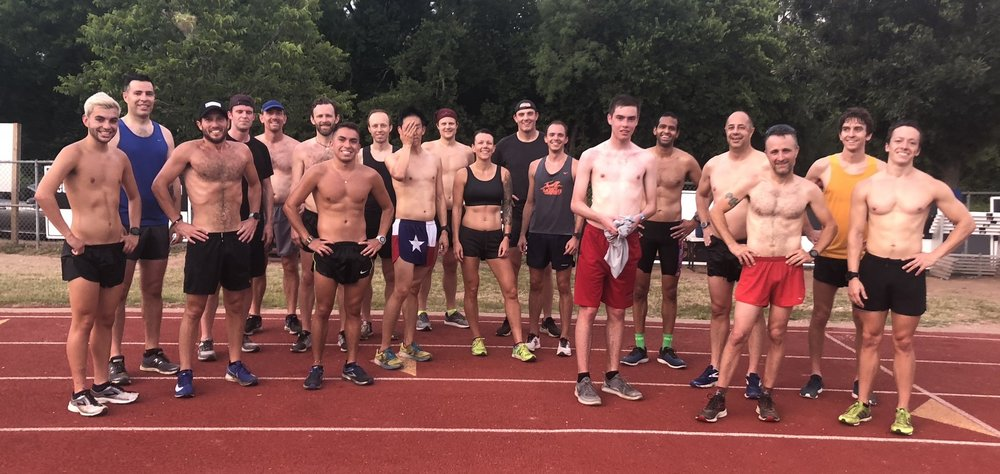 Gazelles training for the Austin Mile Challenge