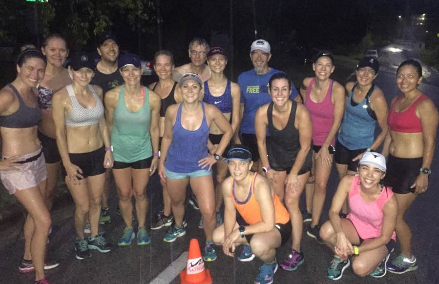 Michelle (back row, third from the right) on an early morning hill workout with her fellow Gazelles.