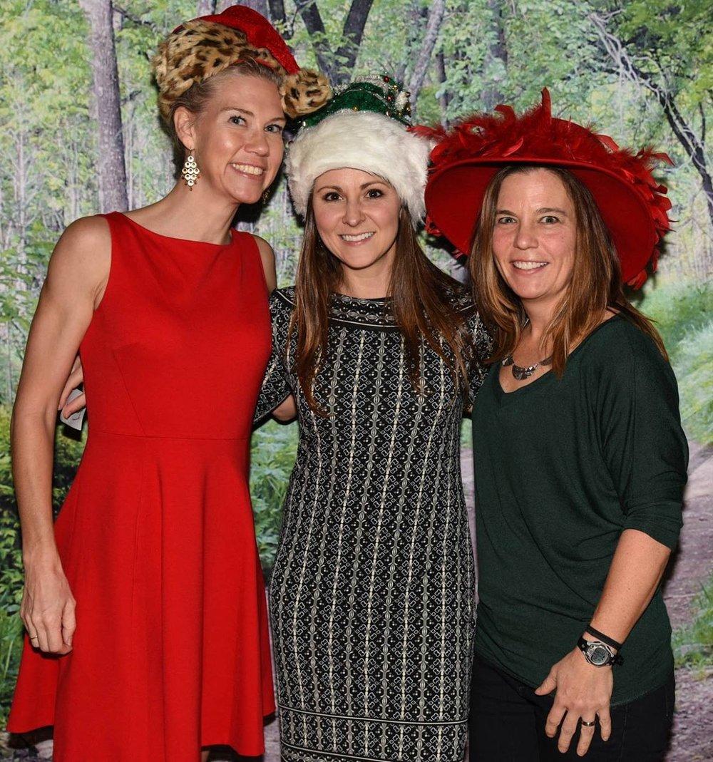 (L to R) Michelle Schneider with fellow Gazelles Ewa Kacewicz and Stella Harper