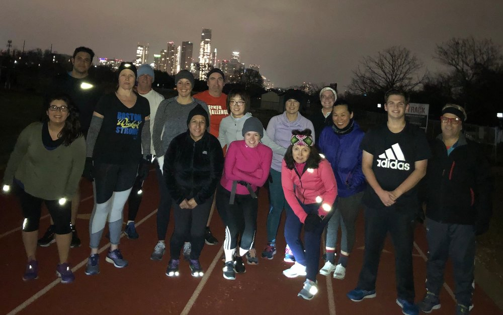 First day for some Gazelles—Monday, 5:30am and 38 degrees. Great job!