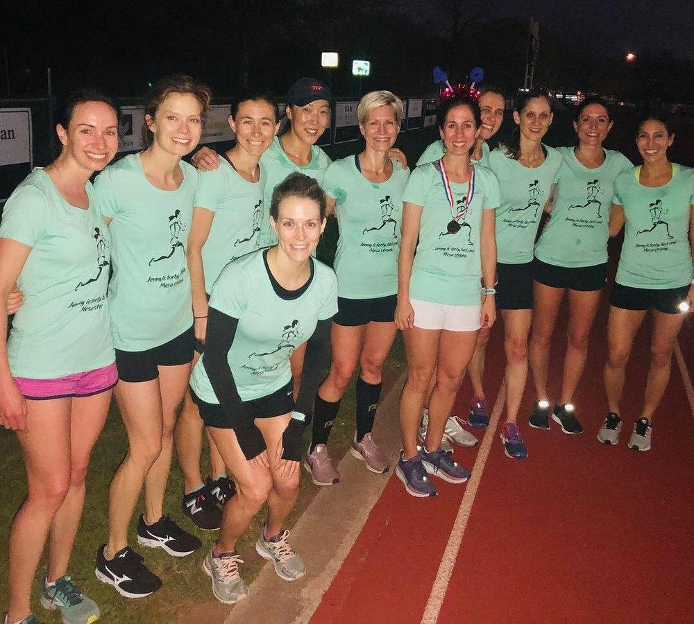 "Jenny Norrell was surprised by Gazelles teammates on her birthday last week. ""I'm lucky to be surrounded by so many amazing women!"""