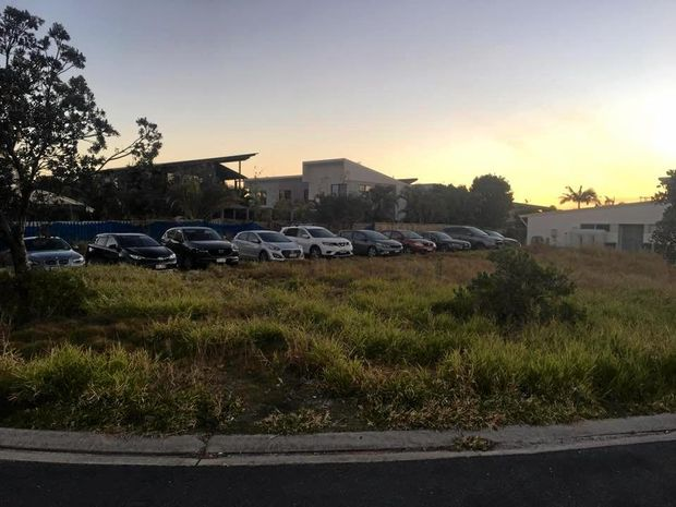 OUT OF CONTROL: At least 10 cars parked near one of the listed short term rental properties in Casuarina, which has left residents frustrated by the numerous disruptions caused by loud partying in the house.