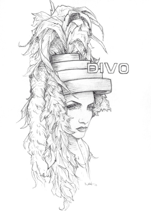 DIVO.  Pencil on paper.