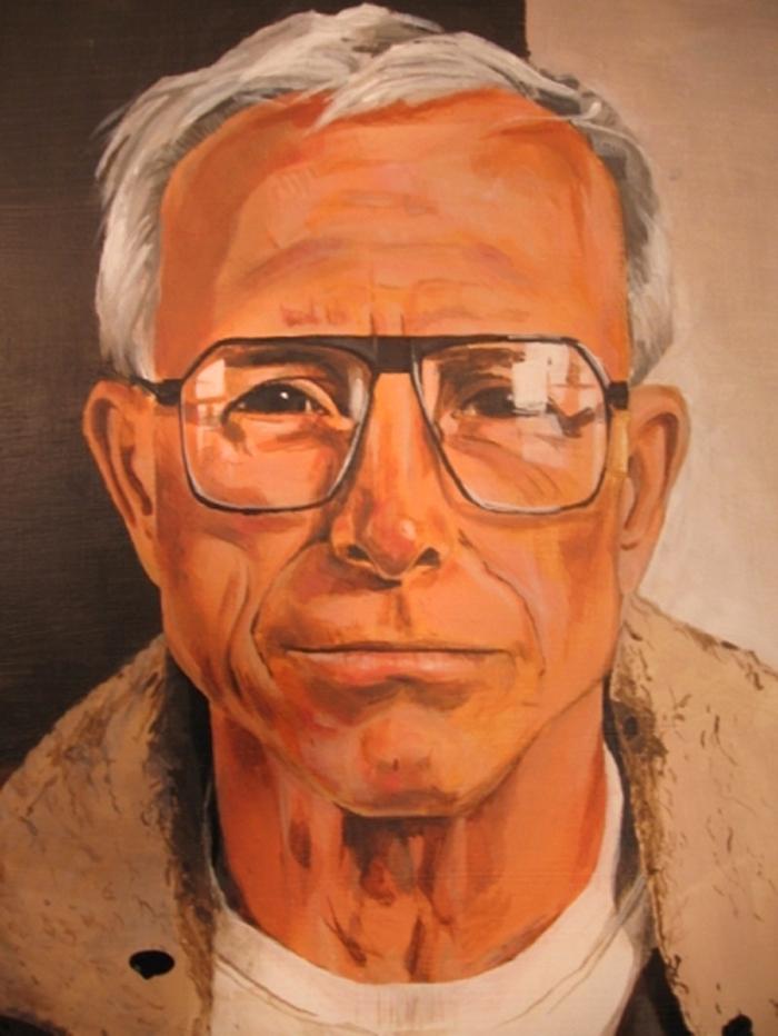 Grandad. Acrylic on birch.