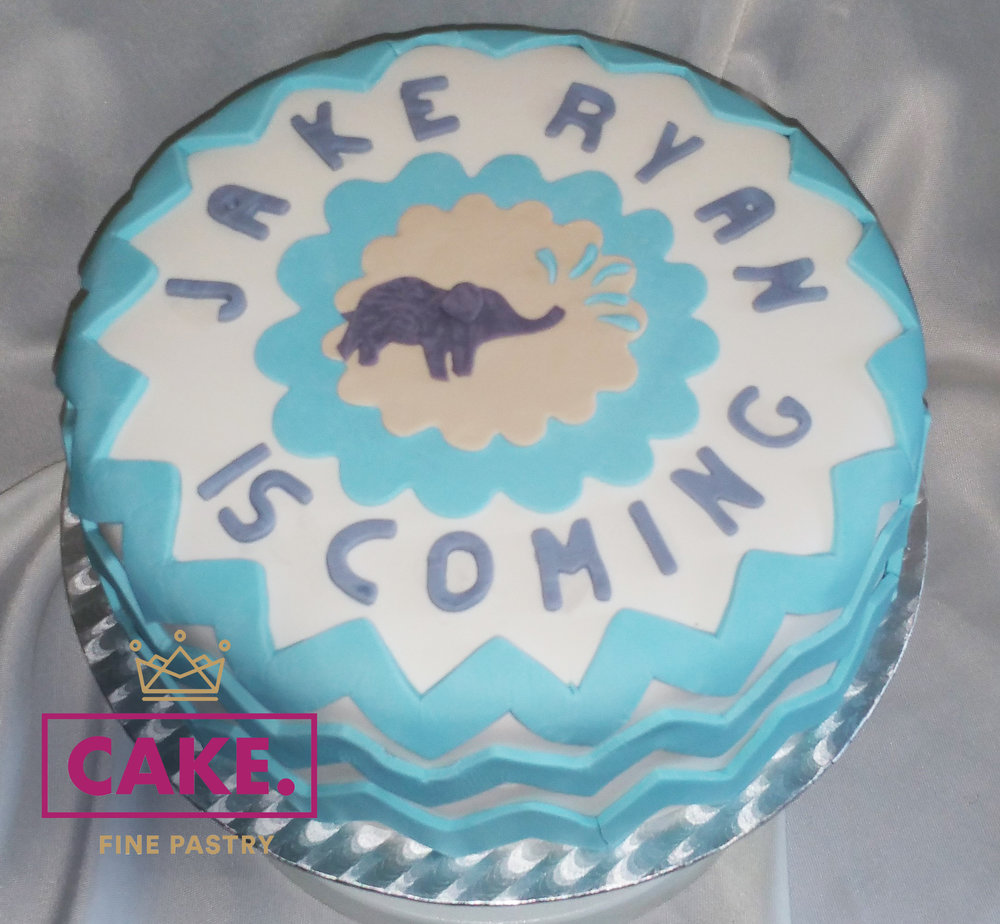 Boys Baby Shower Cake