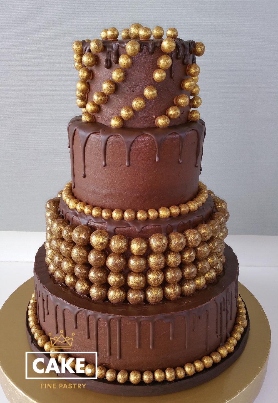 Chocolate Maltball Grooms Cake