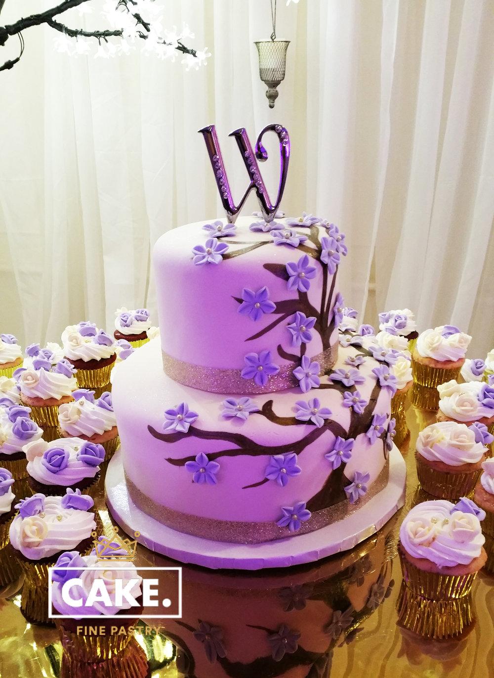 Purple Blossom Tree Cake