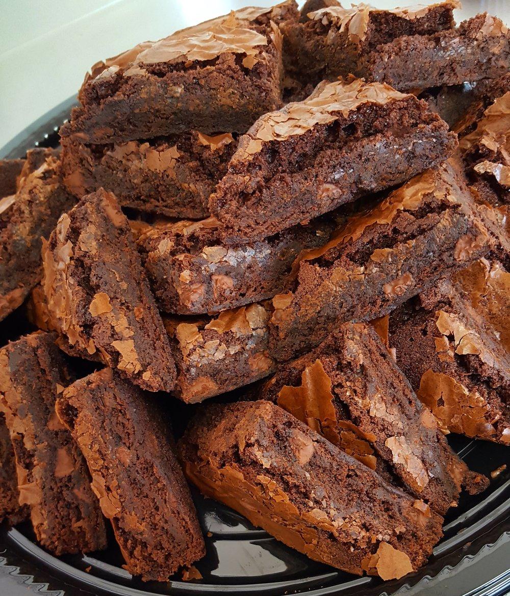 Triple Chocolate Brownie Platter