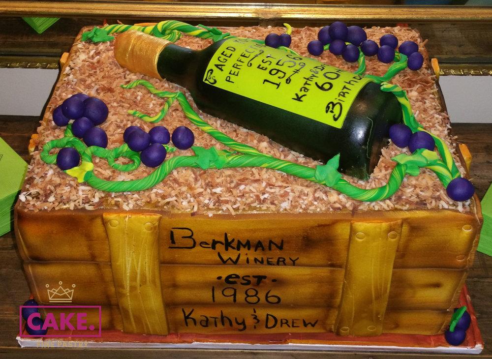 Wine Crate Cake