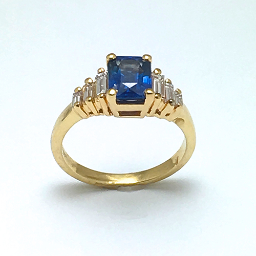 sapphire ring vintage