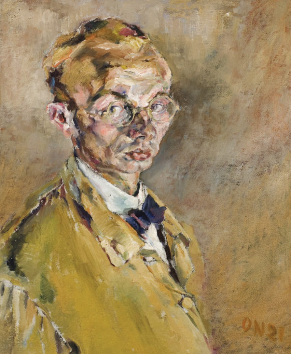 Otto Neumann, Self Portrait, 1921.  Oil on Canvas.