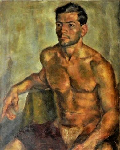 Segedin, Figure Study, 1947.  Oil on canvas. Collection Bringe.