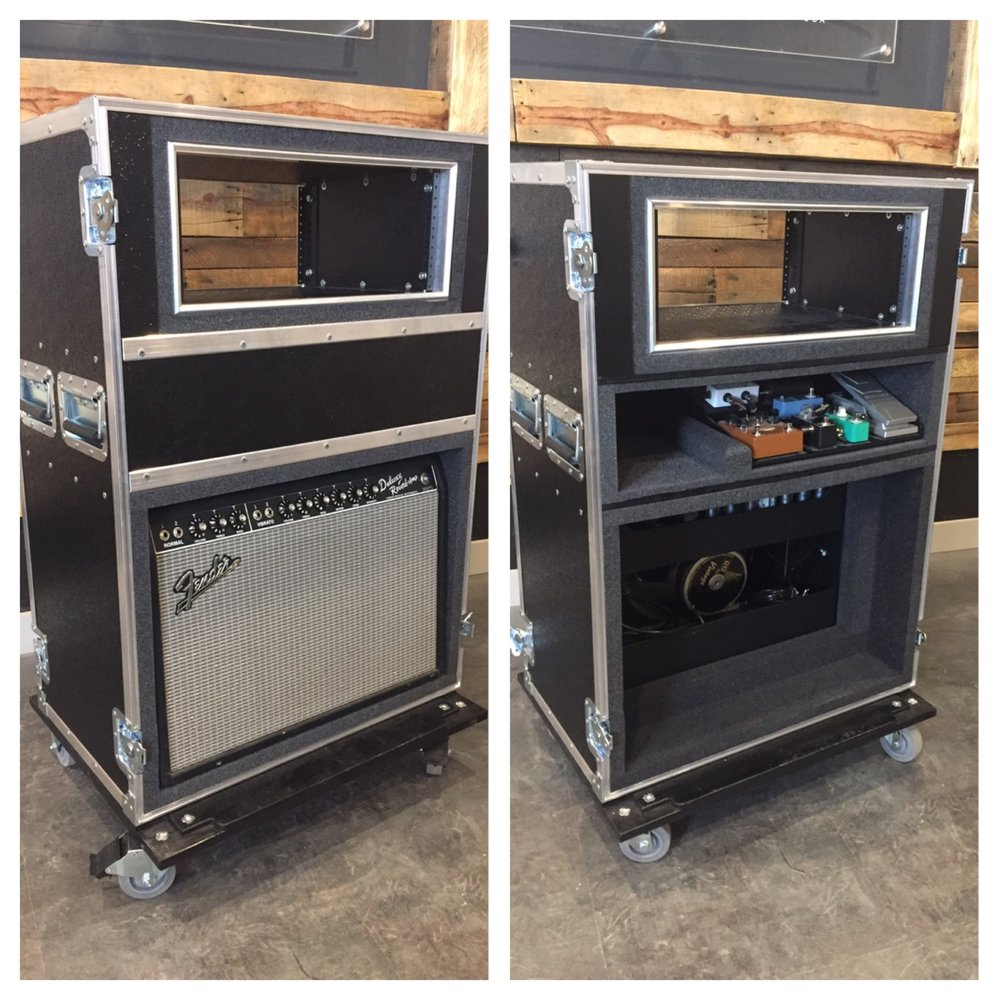 Guitar Amp Case with shock-mount rack and pedalboard storage.JPG