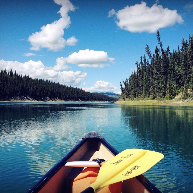 Paddling down the Yukon River in a Canadian canoe #howcliché