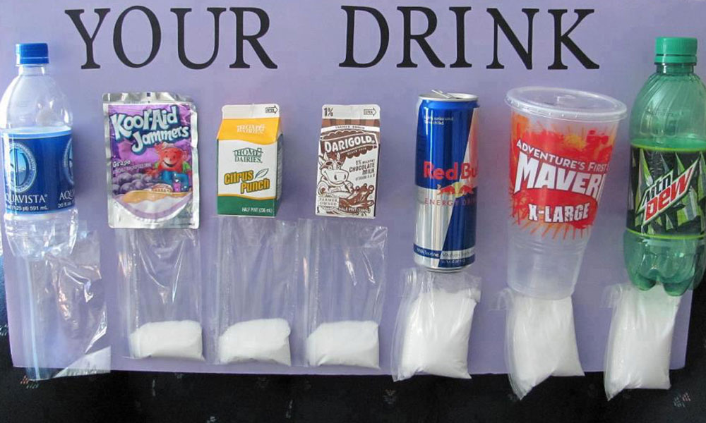 'Rethink Your Drink'. The much discussed and shared visual of how much sugary really is in our drinks.