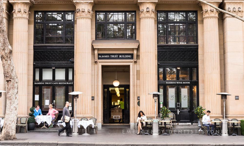 Pictured: The St James Trust Building at 185 Elizabeth Street, Sydney.