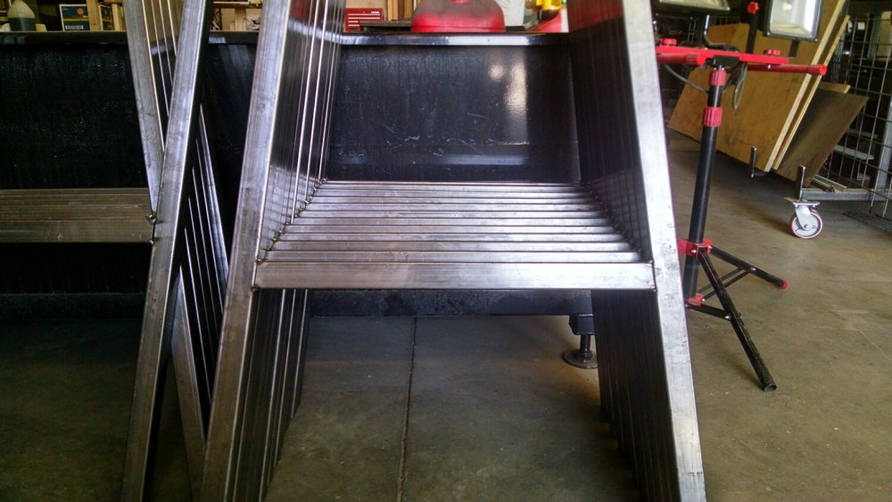 Tack it up - The legs have been tacked in position and ready for full weld.