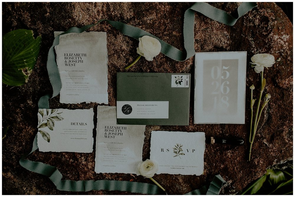 romantic wedding stationary