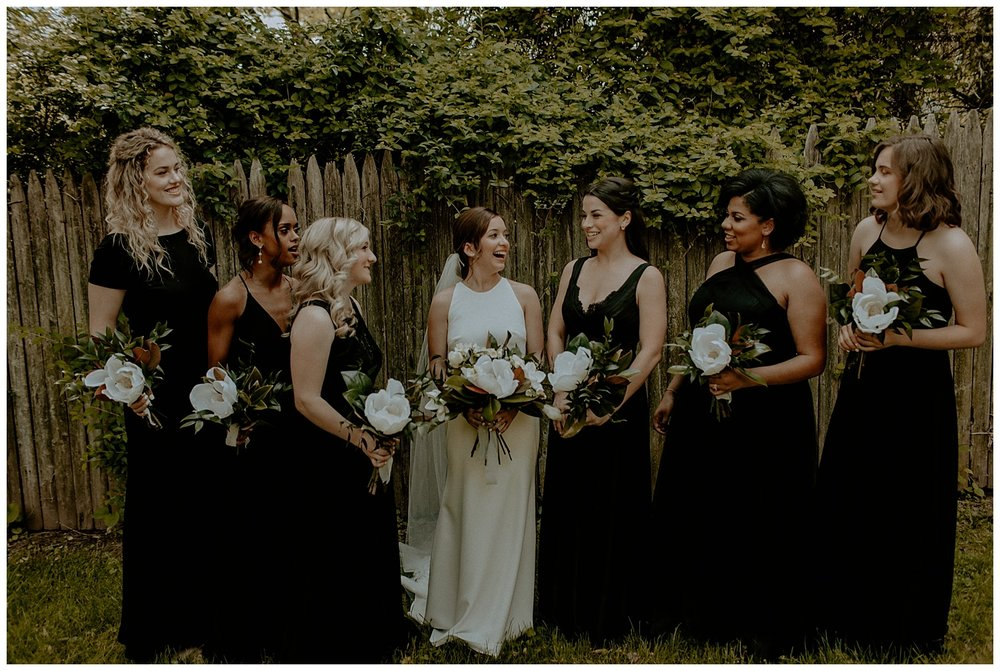 backyard wedding bridesmaids