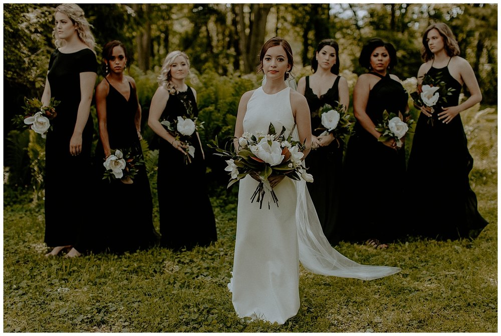 modern romantic bridesmaids