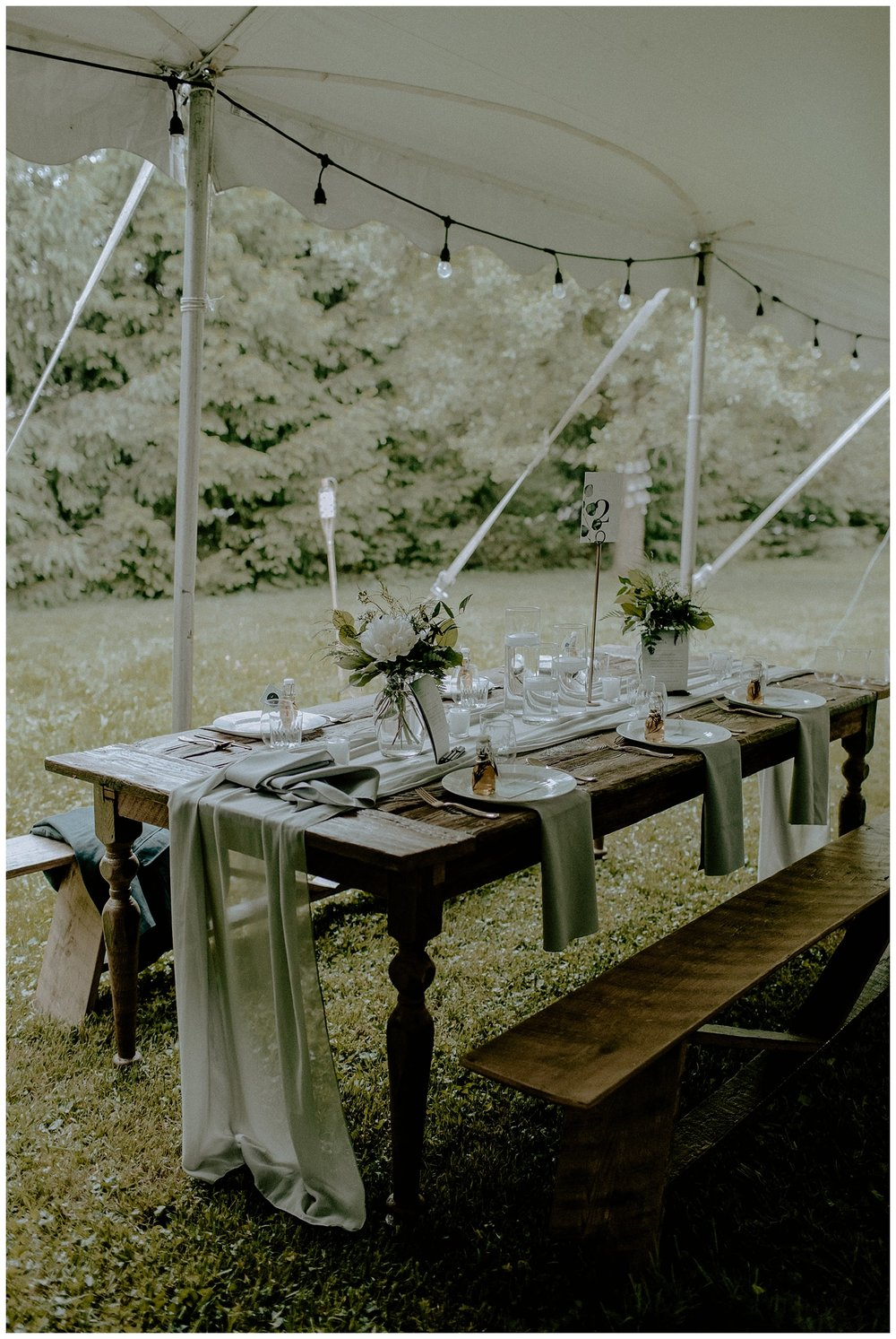 romantic backyard wedding