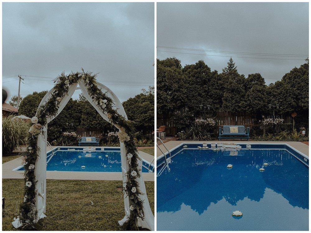 backyard wedding vibes
