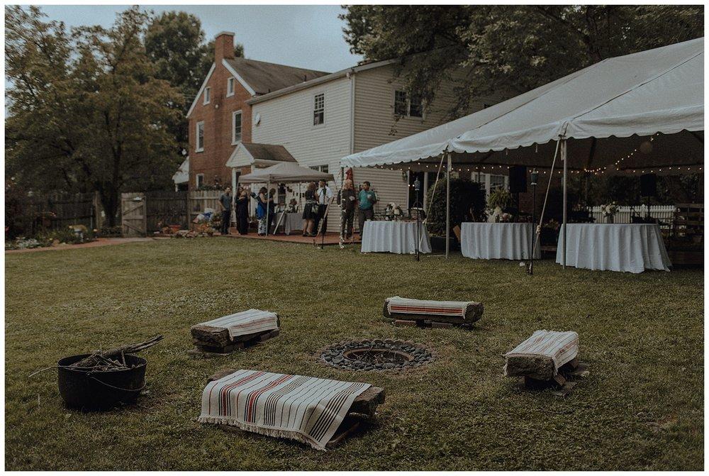 bohemian backyard wedding